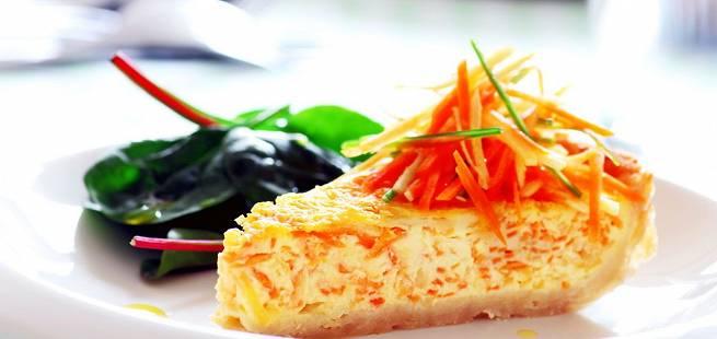 Pai med revne rotgrønnsaker