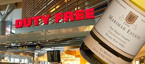 Overbevisende californisk vin i taxfreehylla