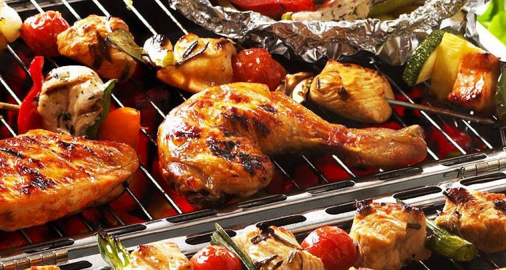 Kylling er godt på grillen