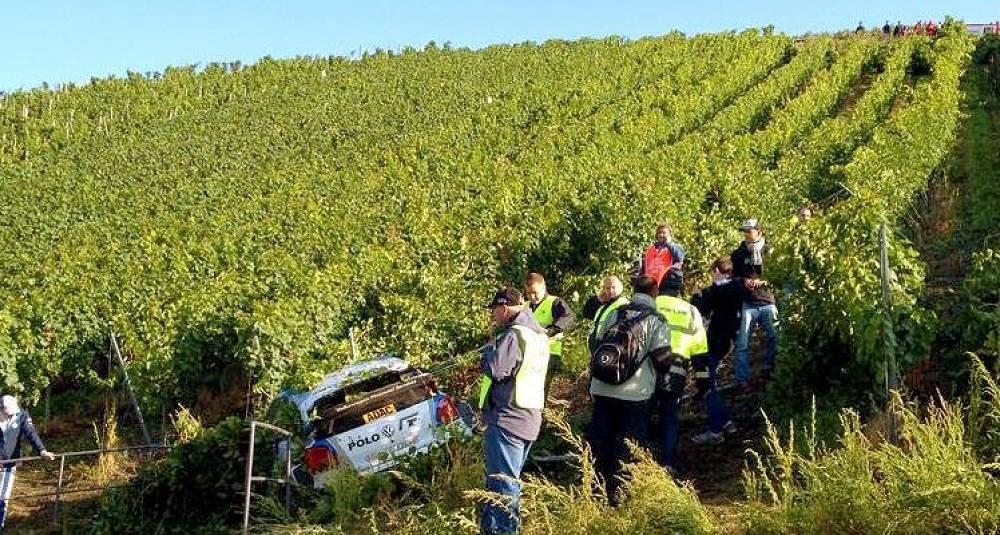 Rallybil moste Mosel-vinmarker