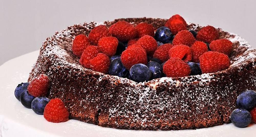 Saftig sjokoladekake med lite sukker