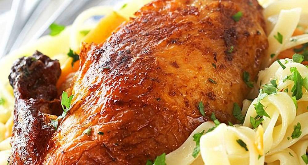 OL-oppskrift: Grillet kylling med persillepasta