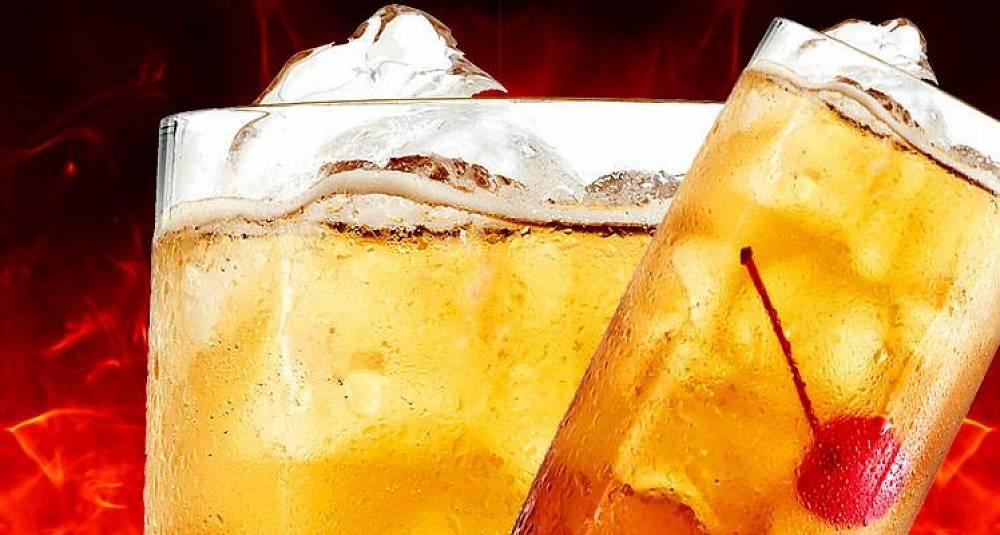 Sterk og fyrig drink med rom