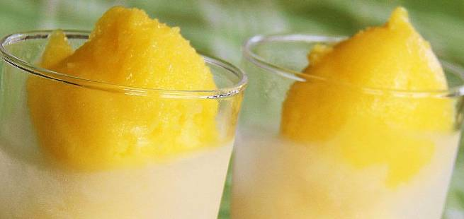 Slik lager du mangosorbet