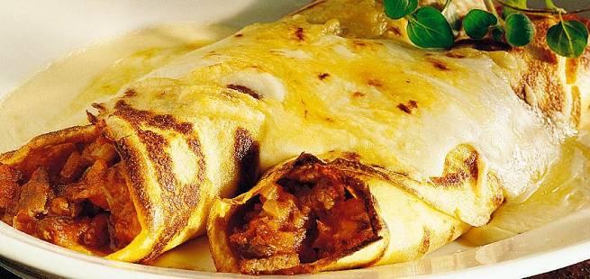 Fylte Crepes pannekaker på fransk vis