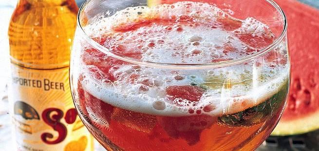 Ølbowle med jordbær