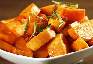 Candied sweet potatoes (søtpoteter med marshmallows)