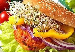 Saftige vegetarburgere med ost