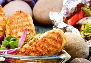 Persiske kyllingfileter med yoghurtdipp