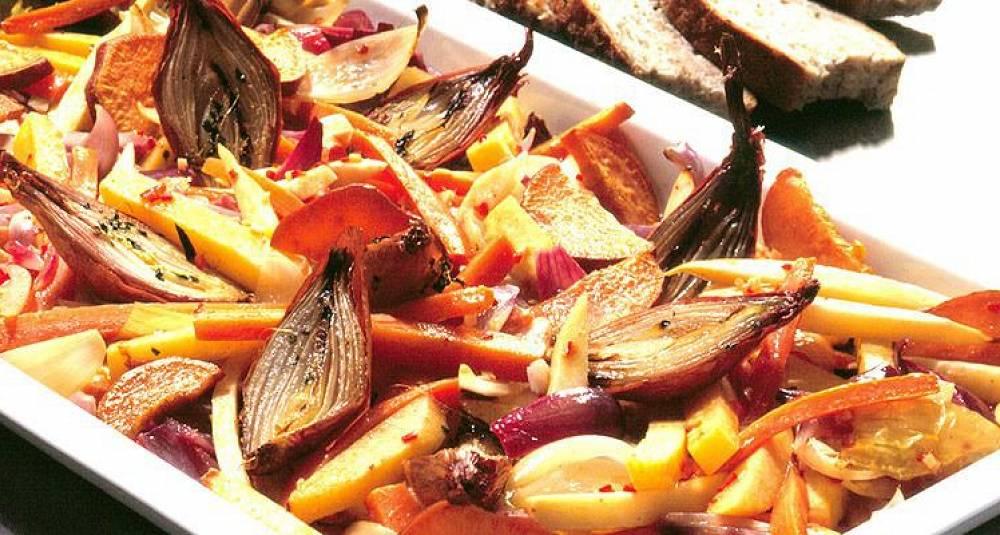 Ovnsbakte rotgrønnsaker og poteter