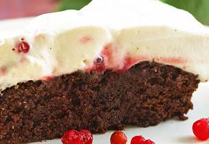 Sjokoladekake med ripskrem