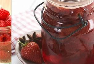 Jordbær- og bringebærsyltetøy