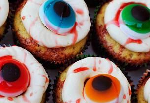 Blodige muffinsøyne