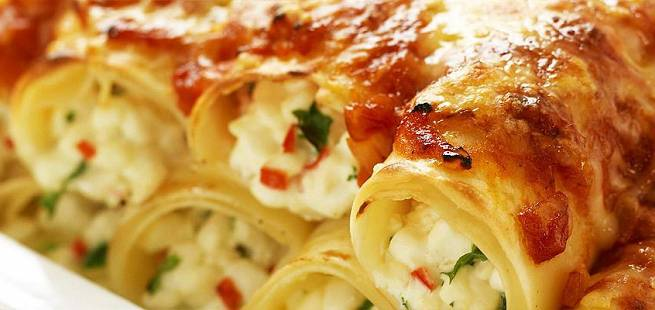 Cannelloni med chili og cottage cheese