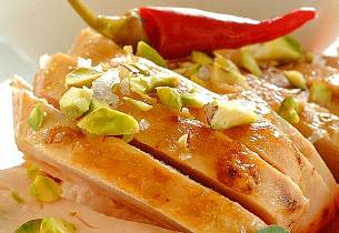 Smørstekt kyllingfilet på ungarsk vis