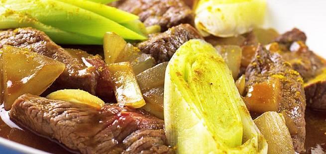 Hvalgryte med sambal og karri