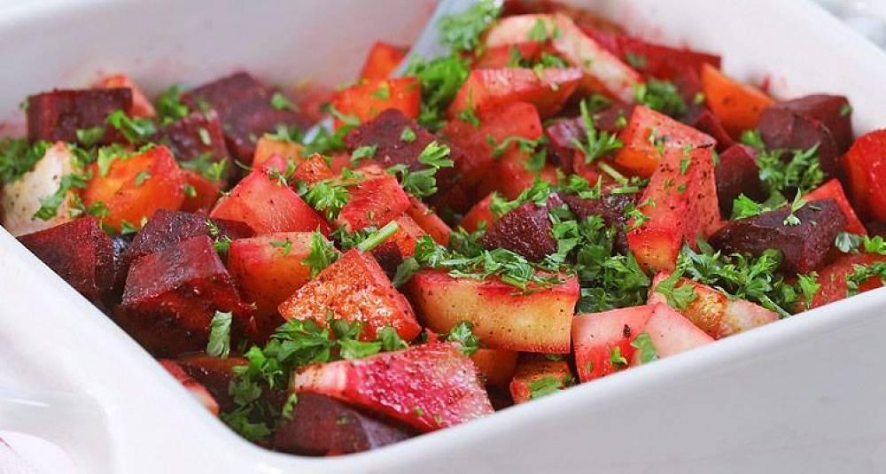 Kanelstekte rotgrønnsaker