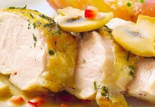 Kyllingfilet med smakfull saus