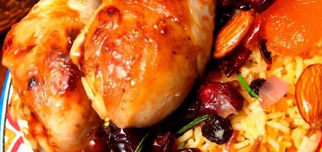 Kyllinggryte med tørket frukt og med brandy