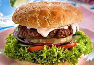 Hamburger med dressing