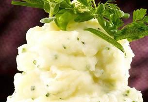 Garlic mashed potatoes (potetmos med hvitløk)