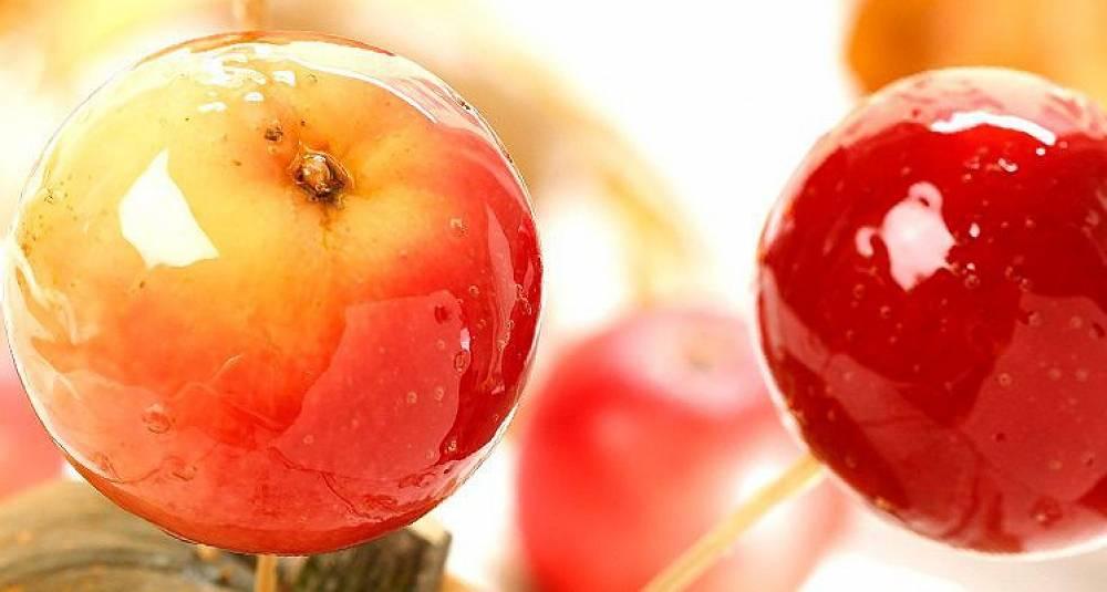 Glaserte epler til halloween