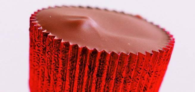 Fylte sjokolader med karamell