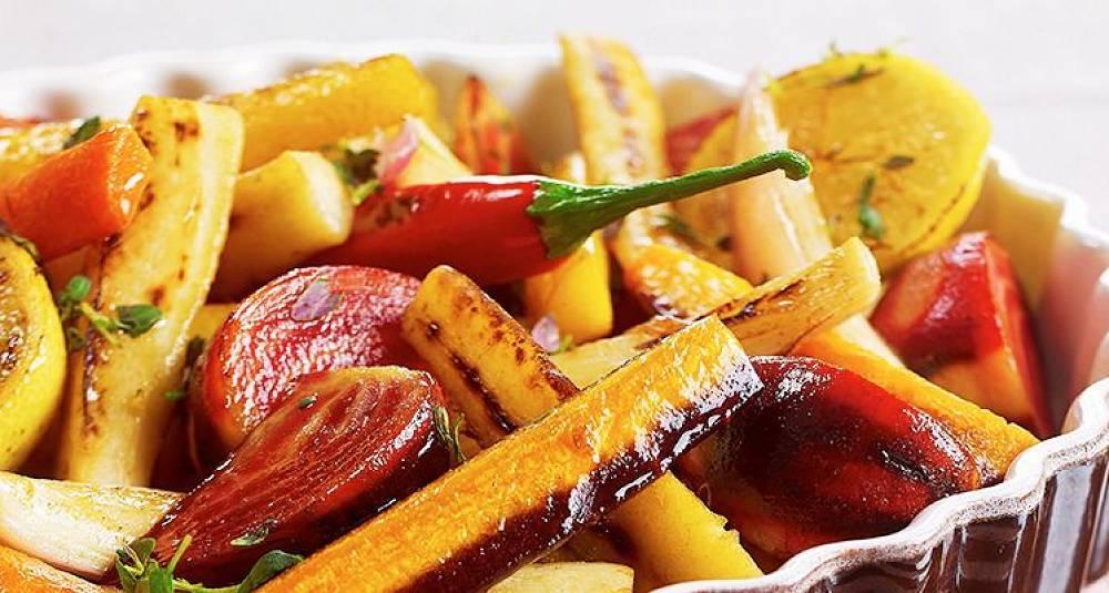 Ovnsbakte rotgrønnsaker med sitron