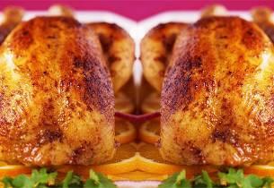 Helstekt appelsinfylt kylling