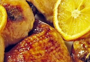 Israelsk kylling med sennep og honning
