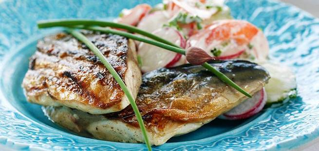 Stekt makrell i marinade