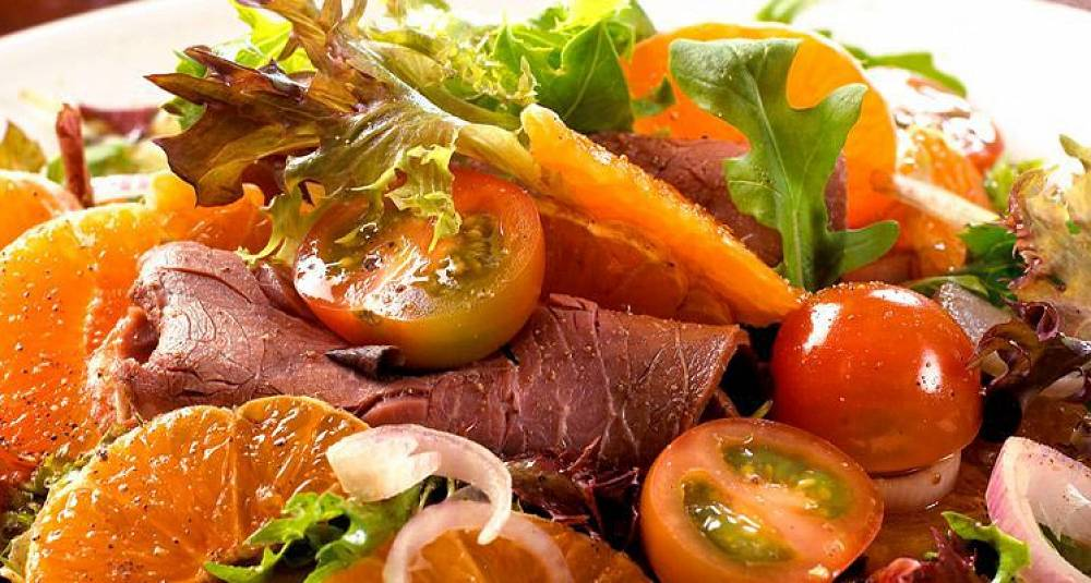 Roastbiff- og sitrussalat