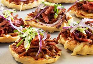 Barbequepizza med pulled pork