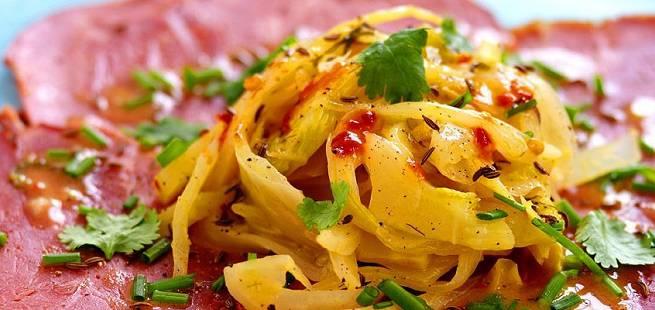 Røkt lammelår med appelsin- og fennikelsalat
