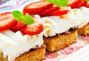 Konfektruter med jordbær