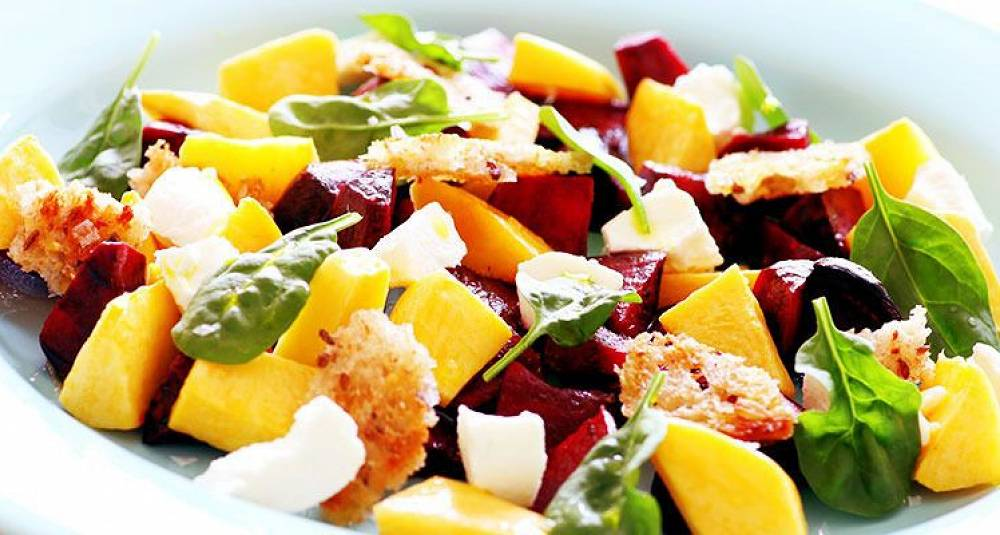 Rødbete- og kålrotsalat