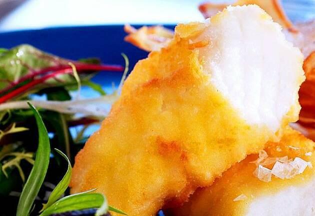Fish and chips kan også være festmat