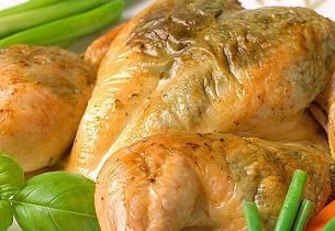 Ovnsbakt utbrettet kylling med pesto