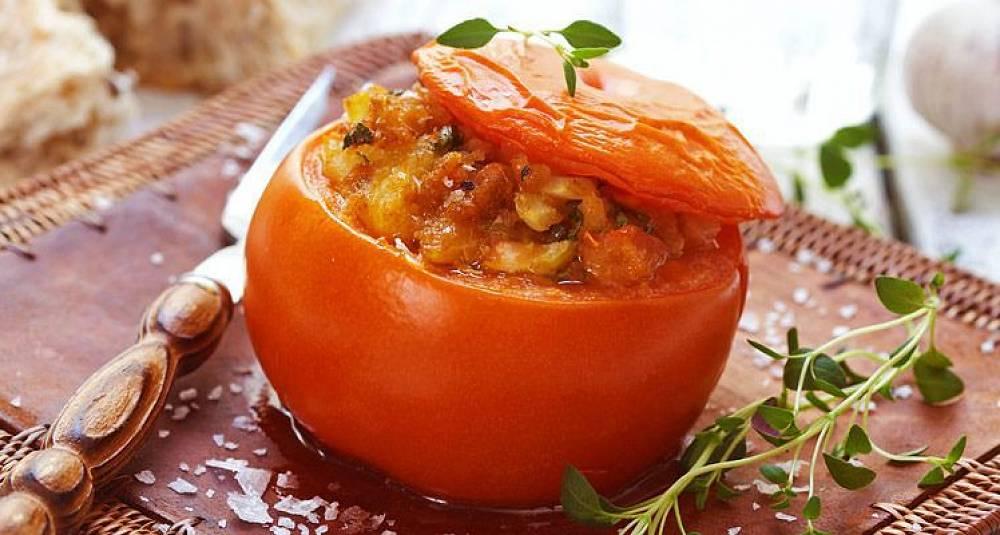 Baconfylte tomater