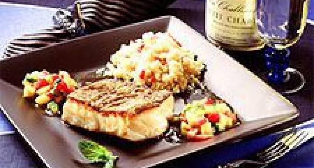 Grillet torsk med eksotisk salsa og couscous