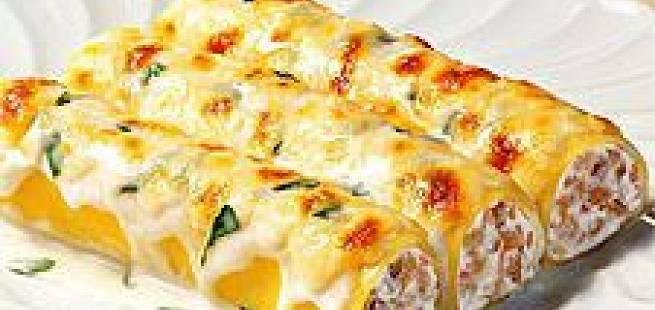 Cannelloni med hvit saus