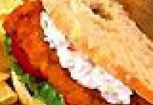 Torskesmørbrød med rekesalat