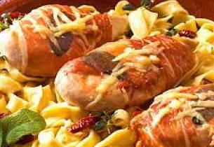 Kyllingfilet med parmaskinke, parmesan og salvie