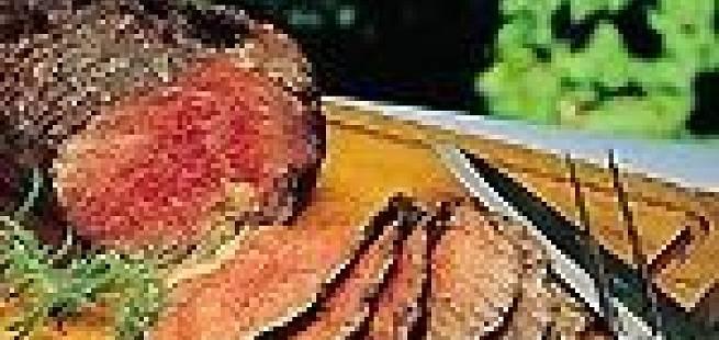 Helstekt filet på grillen