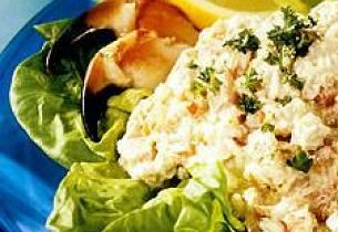 Krabbesalat med koriander
