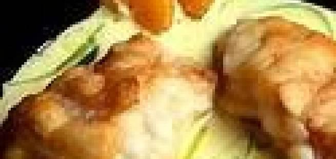 Breiflabb med sjøkreps i hvitløksaus