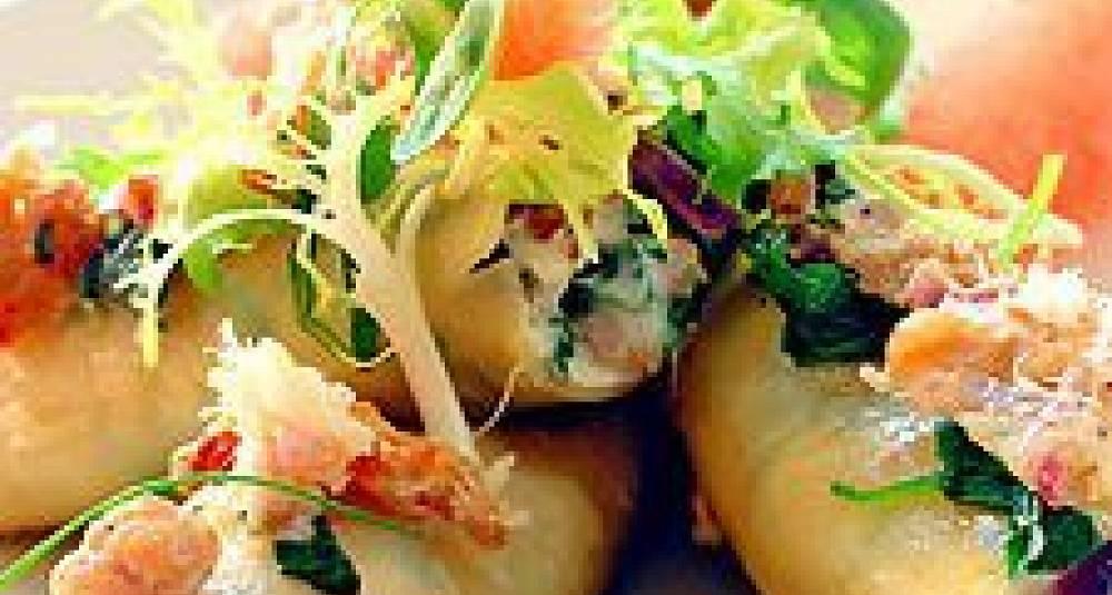 Cannelloni med kyllingkjøttdeig