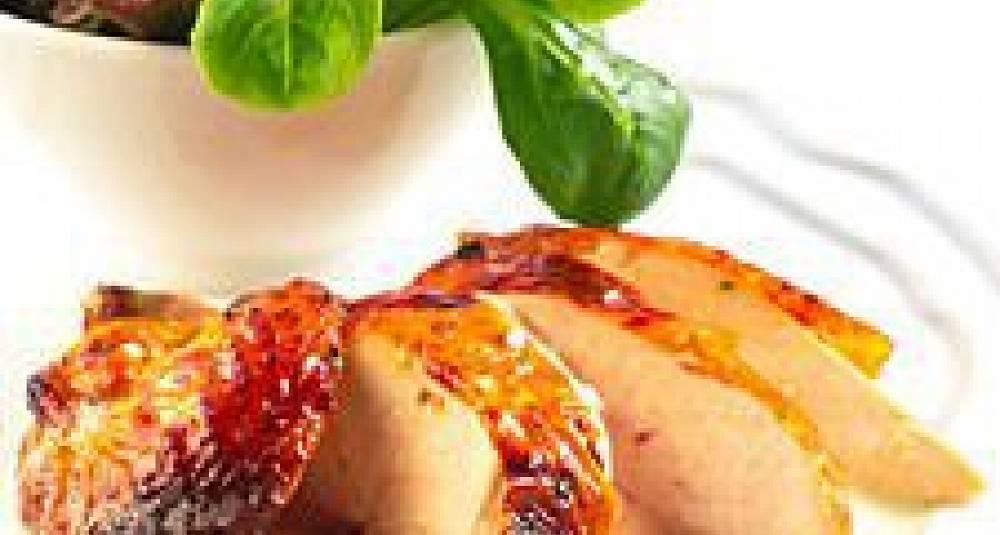Helstekt kylling med urtesaus