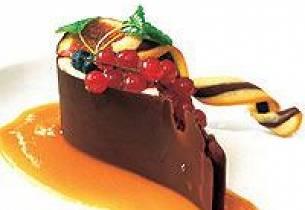 Multedråpe i Valrhona-sjokolade