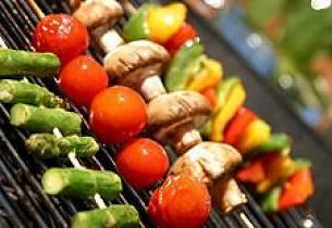 Grillete grønnsaker med romesco